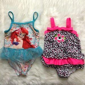 2T girls swimsuit bundle lot of 2 bathing suits